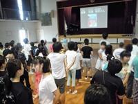 校歌斉唱 指揮は小学部低学年児童