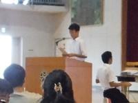 高1生徒代表による発表