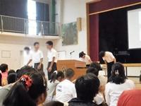 実習参加中の生徒を含め4名が表彰されました。